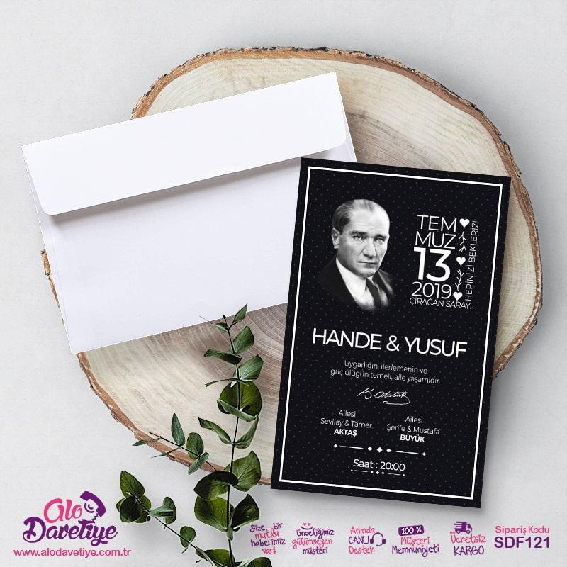 Atatürk'lü Davetiye Modeli