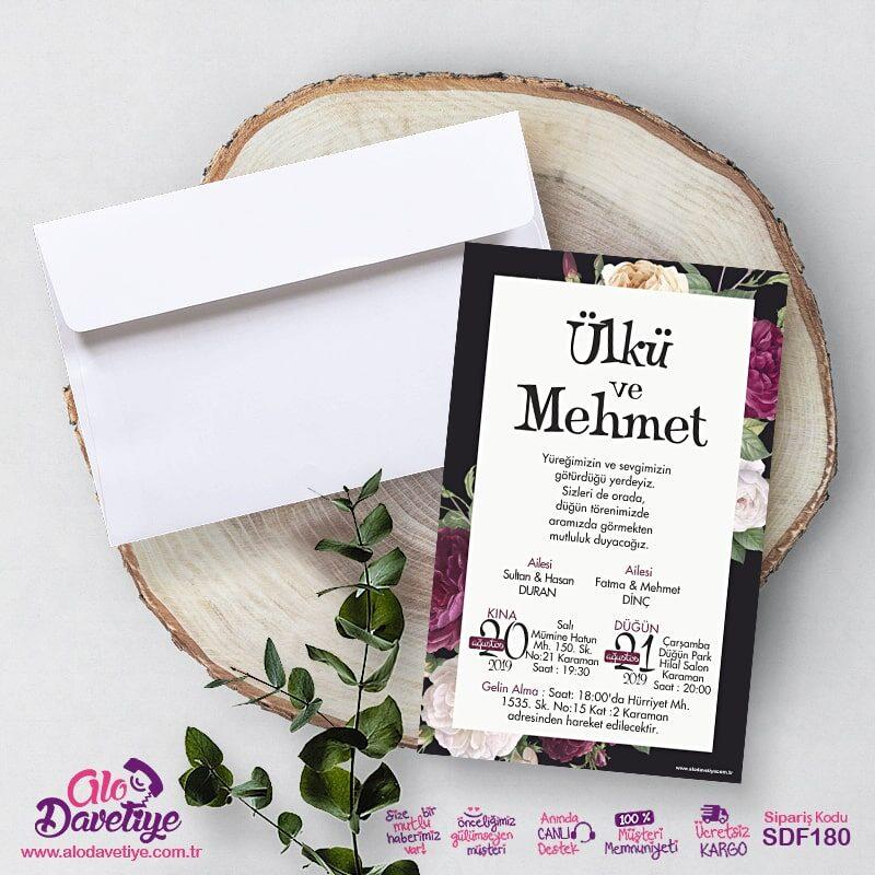 elegant davetiye