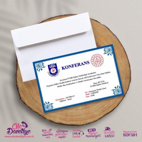 konferans davetiyesi
