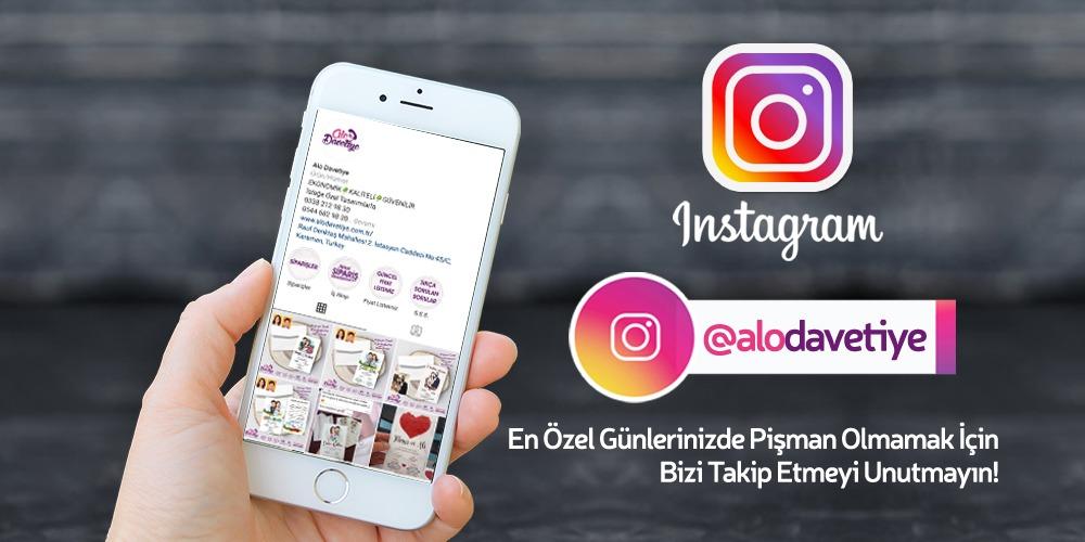 alo davetiye instagram mobil