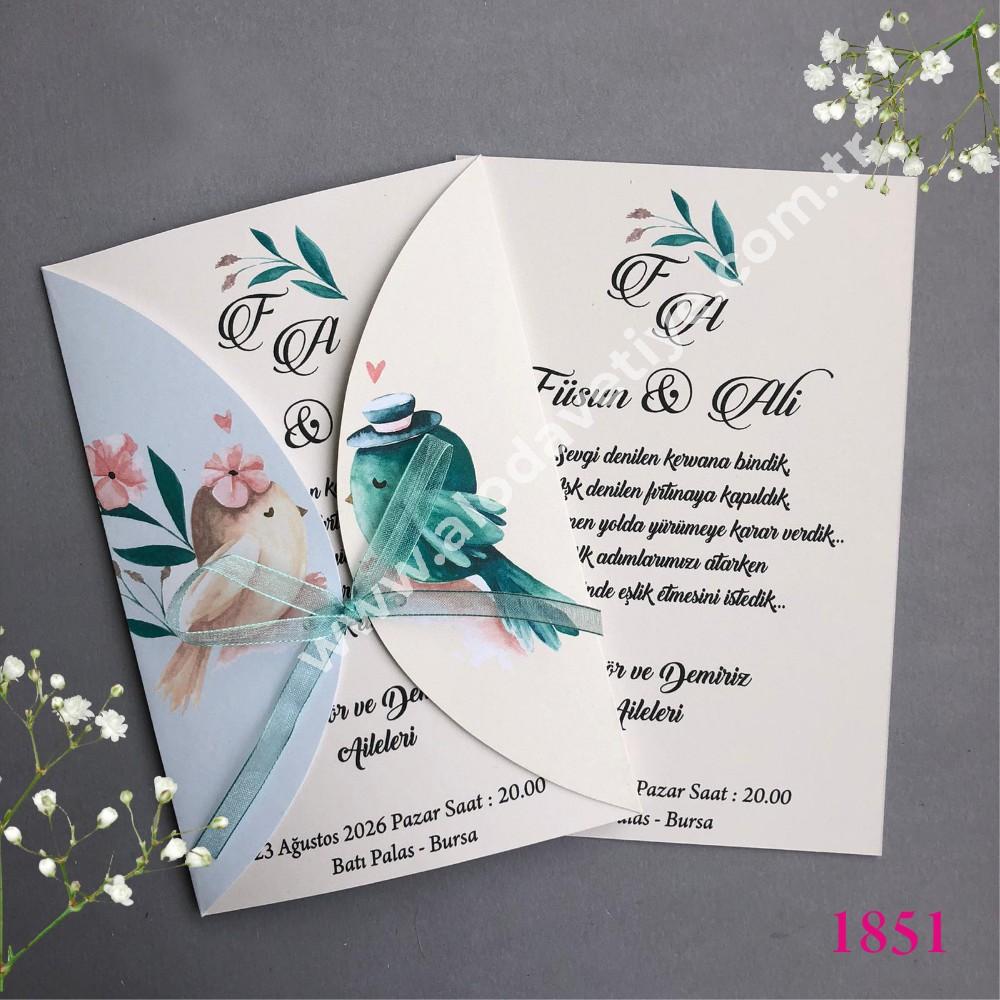 Düğün davetiyesi iki serçe (1)