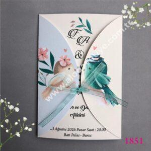 Düğün davetiyesi iki serçe (2)
