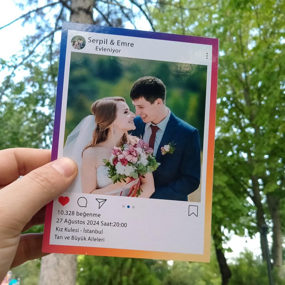 İnstagram Düğün Davetiyesi