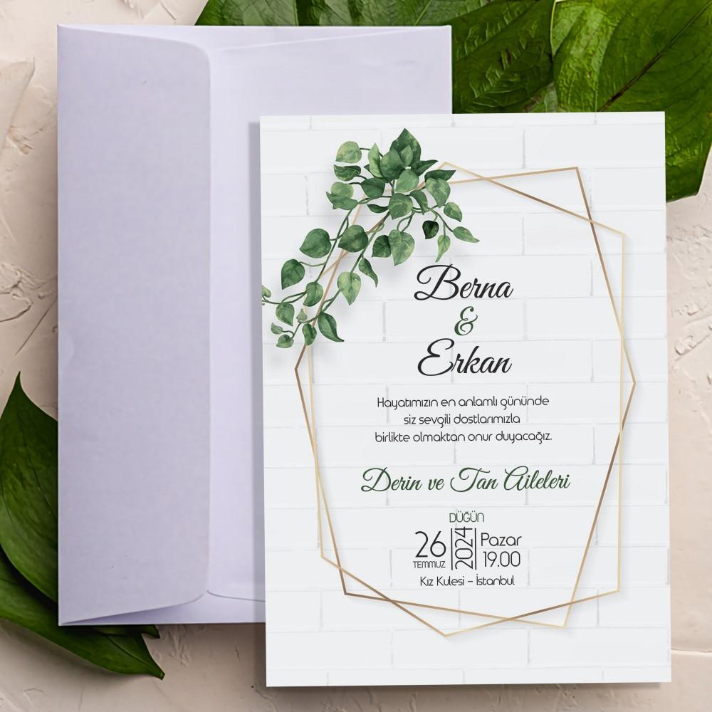 Düğün Davetiyesi SDF-433
