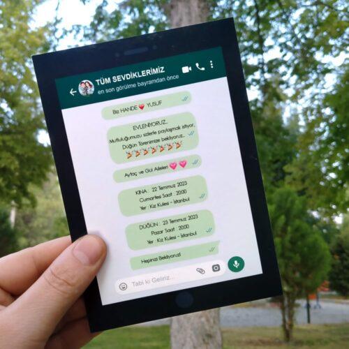 Whatsapp davetiye modeli
