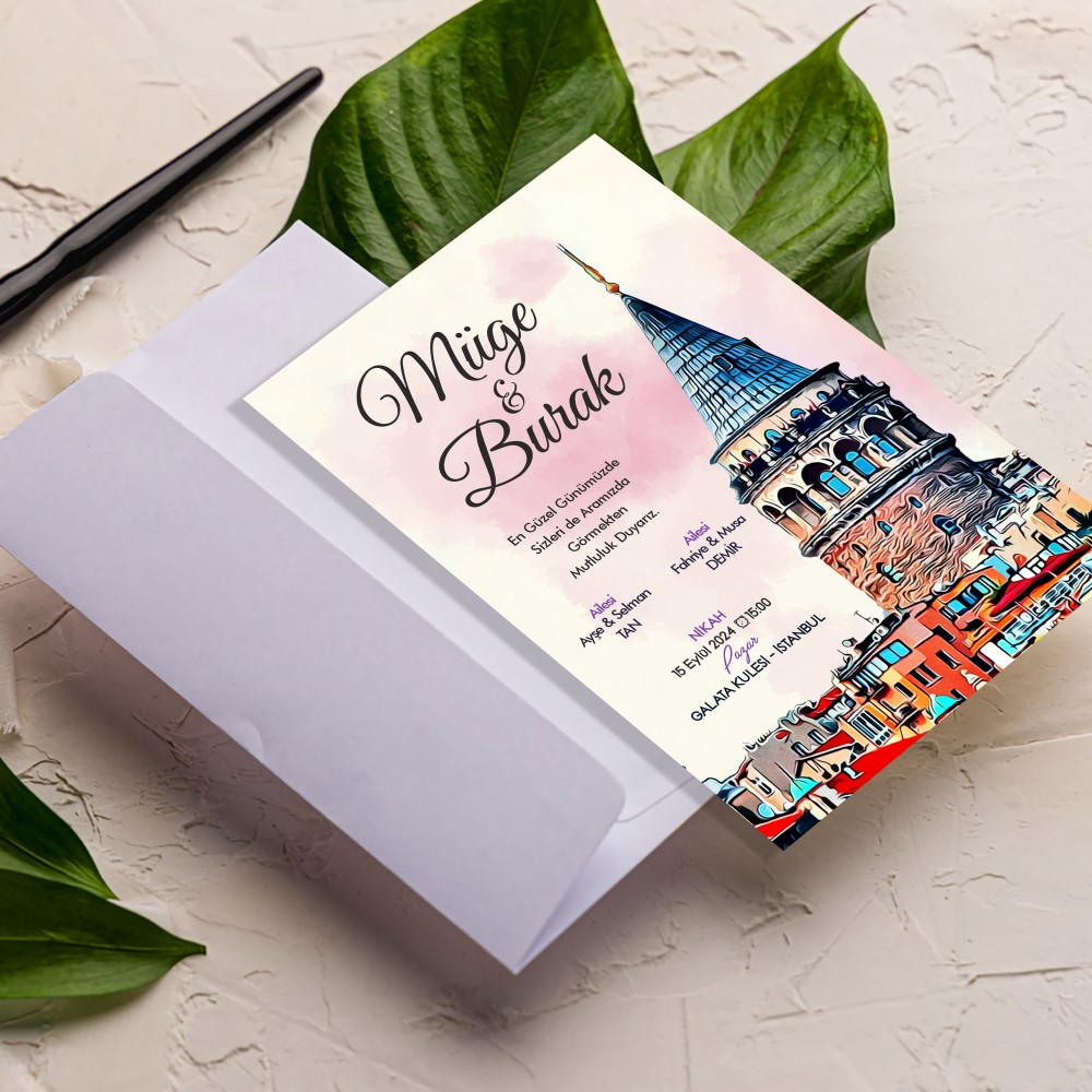 Galata kulesi davetiye