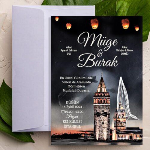 İki Kule Düğün Davetiyesi